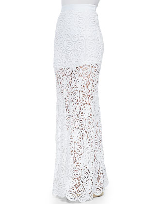 Celine Fitted Crochet Maxi Skirt