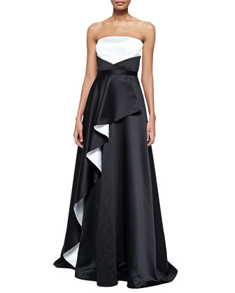 Angel Two-Tone Cascade Gown