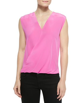 Cross-Front Sleeveless Top