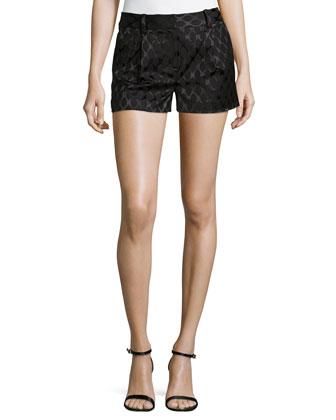 Naples Diamond Jacquard Shorts, Black