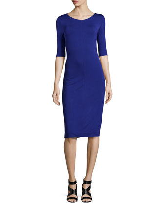 Raquel Jersey Dress, Ultramarine