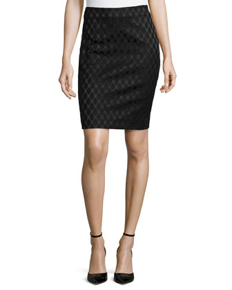 Emma Diamond Pencil Skirt