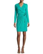 Valencia Jersey Wrap Dress, Parakeet