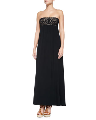 Watermark Strapless Maxi Dress