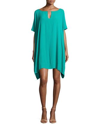 Beonica Oversized Keyhole Dress, Parakeet