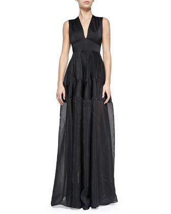 Thiago Tiered Organza Gown