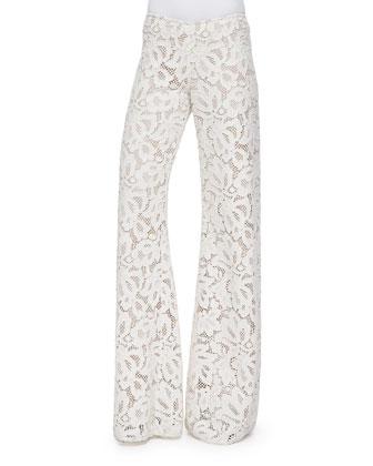 Jamie Wide-Leg Lace Pants