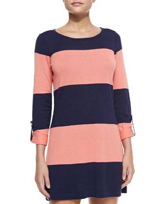 Bold Striped Sweater Coverup