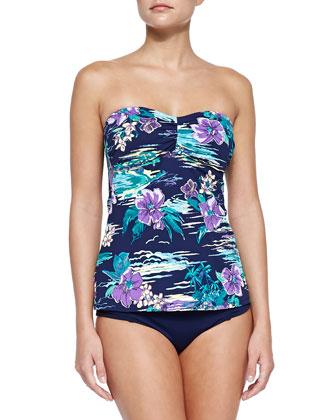 Floral-Print Bandini Swim Top