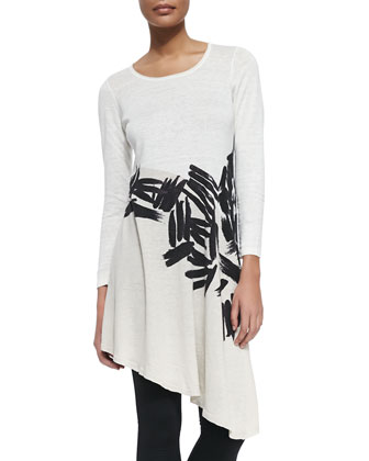 Different Strokes Asymmetric Tunic, Petite