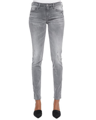 Night Slightly Distressed Denim Jeans