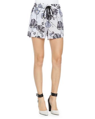 Floral Boxer Shorts W/ Drawstring