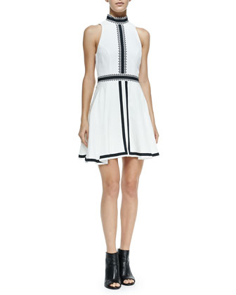 Imagined Features Contrast-Trim Dress