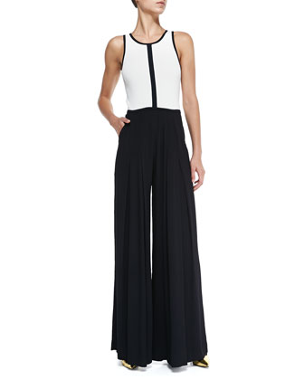 Strength Two-Tone Jersey Jumpsuit