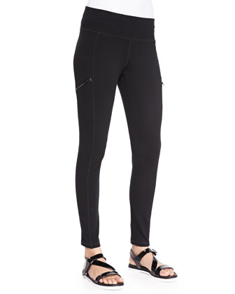 Stretch Skinny Pants with Zippers