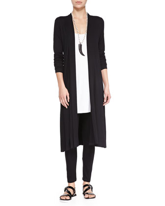 Long Shaped Jersey Cardigan, Women's