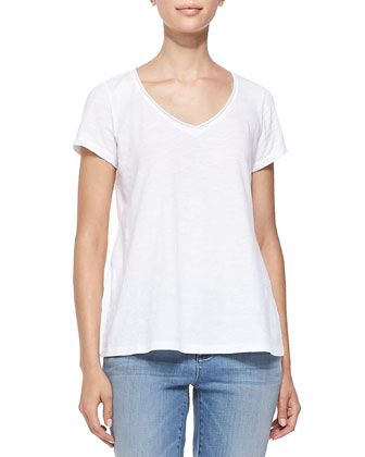 Organic Cotton Slubby Tee, White