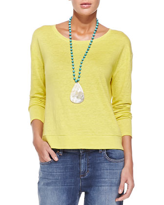Linen Jersey Box Top, Women's