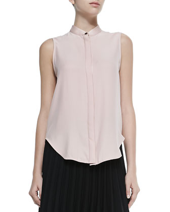 Kent Sleeveless Shirt W/ Hidden Placket