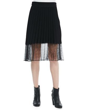 Lyndale Pleated Skirt W/ Lace Hem