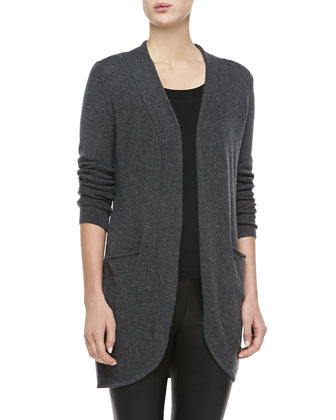Long Cashmere Cardigan w/ Pockets