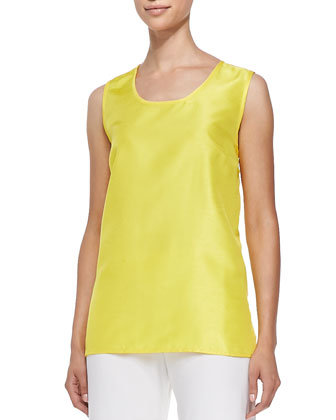 Shantung Solid Tank, Yellow, Women's