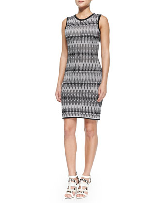 Tie-Dye Stretch-Knit Slim Dress