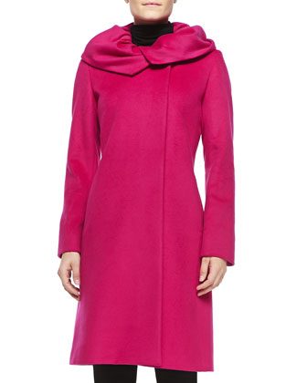 Wool Gathered Collar Coat