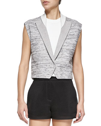 Capa Sleeveless Cropped Jacket