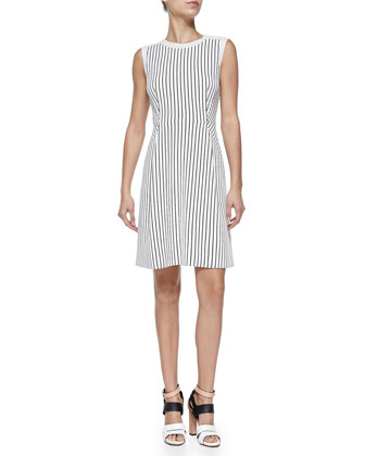 Parker Striped A-Line Dress