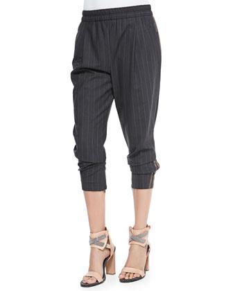 Lightweight Pinstriped Pants