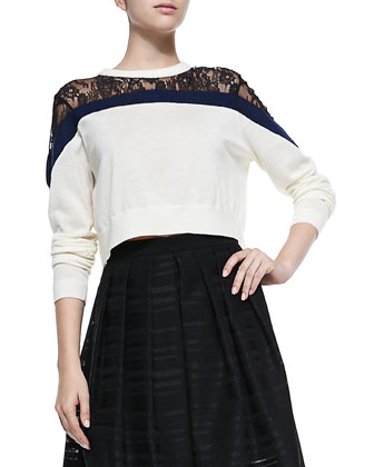 Chantilly Lace Cropped Sweater