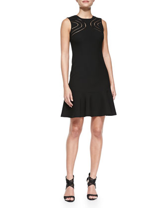 Maureen Cutout-Front Knit Dress