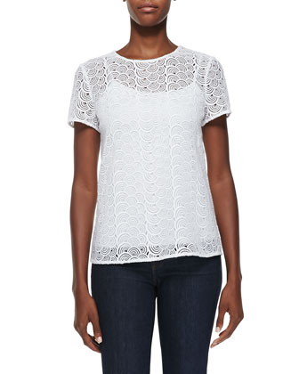 Melissa Scallop-Crochet Top