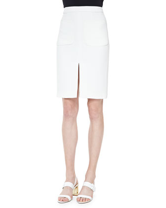 Two-Pocket Slit Pencil Skirt