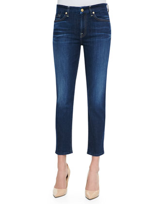 Kimmie Medium-Wash Cropped Slim Jeans