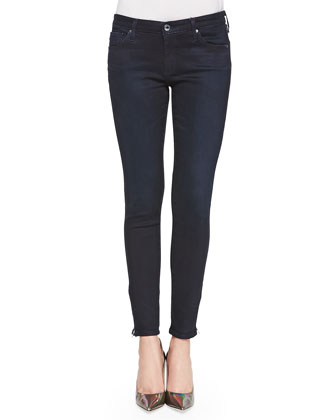 Zip-Up Ankle Legging Skinny, Woodland