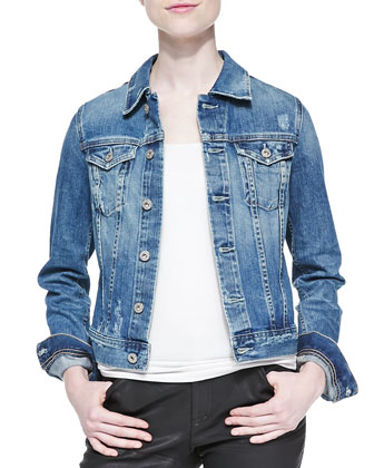 Robyn Distressed Denim Jacket, 17 Year Salvation