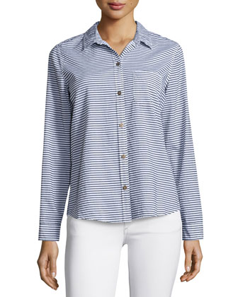 The Slim Boy Shirt, Misty Stripe