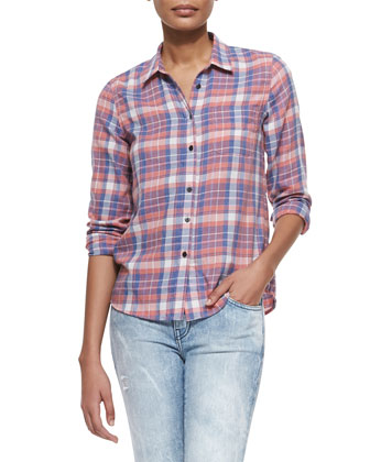 The Slim Plaid Boy Shirt