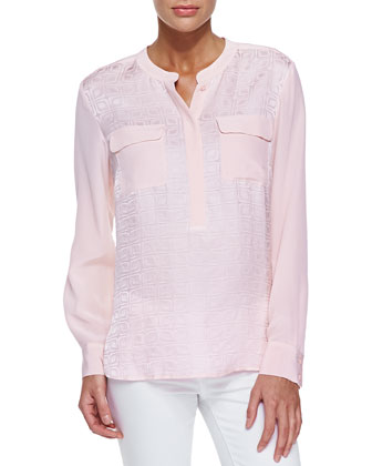Jacquard Two-Pocket Tunic, Petite