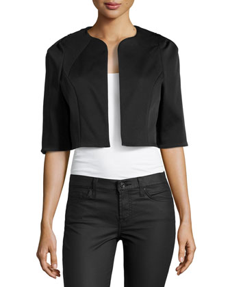 Cropped Half-Sleeve Jacket, Midnight