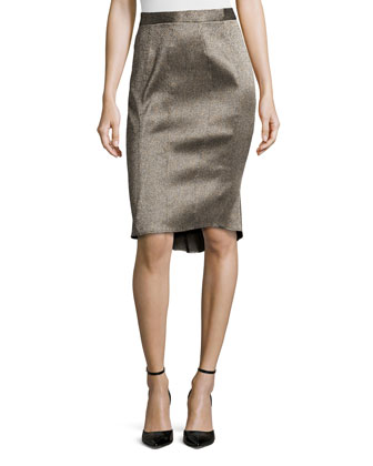 Metallic Jacquard Skirt, Prairie Wind