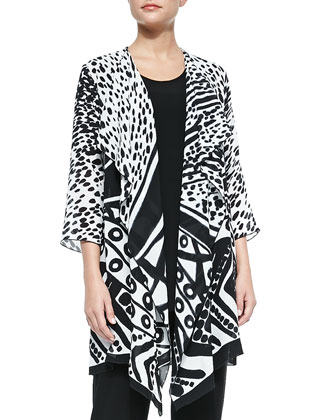 Spots and Dots Georgette Jacket, Women's