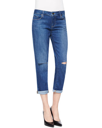 Jimmy Distressed Cropped Straight Jeans