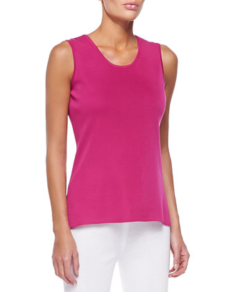 Sleeveless Long Tank, Winterose