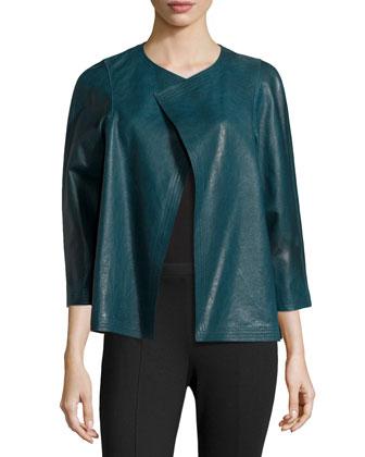 3/4-Sleeve Leather Topper, Mallard