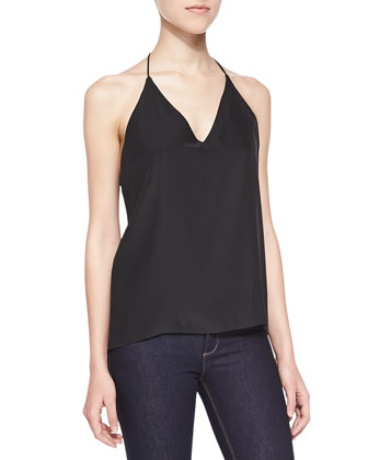 Silk Y-Back Shell Tank