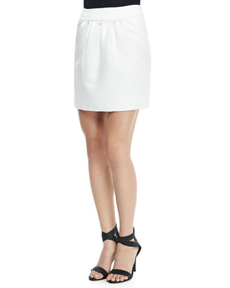 Courtney Sateen Mini Skirt