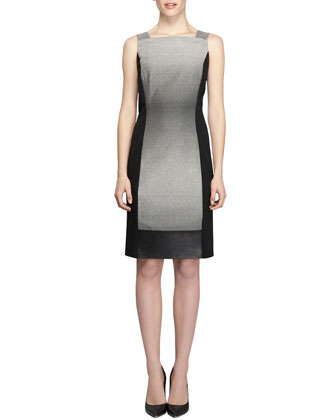 Saturine Colorblock Sheath Dress